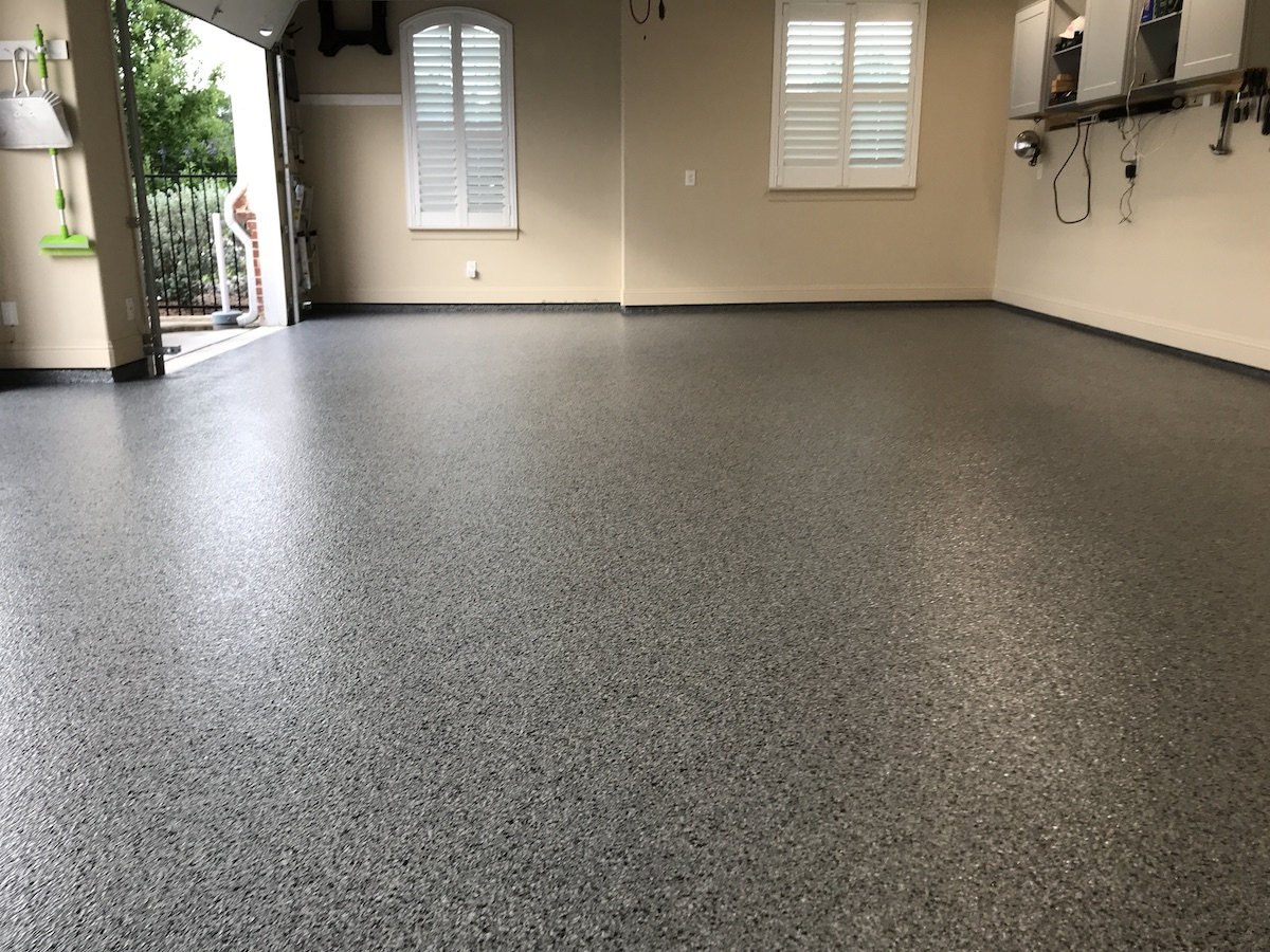 garage floor coating of boston after epoxy flooring
